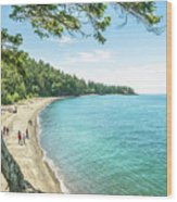 Beaches Of The Pacific Northwest Wood Print