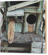 Beachfront Birdhouse For Rent 1 Wood Print