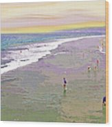 Beachgoers 1 Wood Print