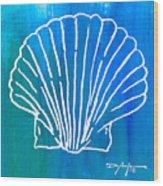 Beachside Shell Wood Print