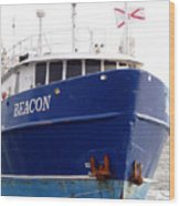 Beacon Aground Wood Print
