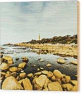 Beacon Beach Wood Print