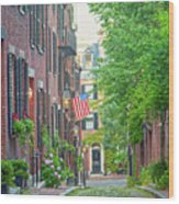 Beacon Hill Wood Print by Susan Cole Kelly
