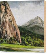 Beacon Rock Washington Wood Print