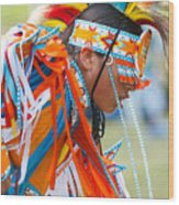 Beaded Pow Wow Dancer Wood Print