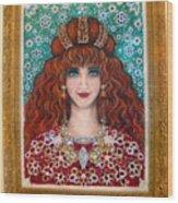 Sarah Goldberg Beauty Queen. Beadwork Wood Print