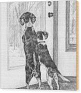Beagle-eyed - Beagle Dog Art Print Wood Print
