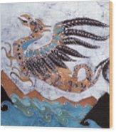 Beaked Dragon Flies Above The Sea Wood Print by Carol  Law Conklin