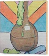 Beaker Wood Print by Loretta Nash