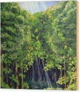 Beaming In Wood Print