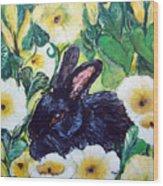 Bean The Magical Rabbit -pet Portrait Wood Print