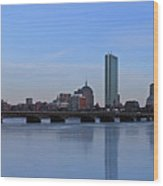Beantown On Ice Wood Print by Juergen Roth