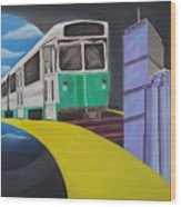 Beantown Transit Wood Print
