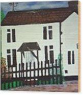 Bear Cottage Wood Print