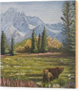 Bear Country Wood Print