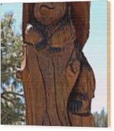 Bear In Wood Wood Print