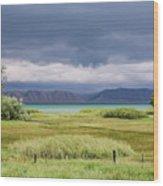 Bear Lake From Us 89 Wood Print