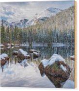 Bear Lake Holiday Wood Print