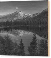 Bear Lake In Black And White Wood Print