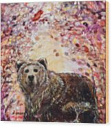 Bear With A Heart Of Gold Wood Print