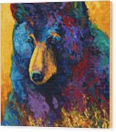 Bear Pause - Black Bear Wood Print