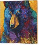 Bear Pause - Black Bear Wood Print