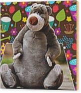 Bear Playtime Wood Print