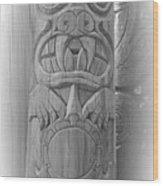 Bear Turtle Frog Totem Wood Print