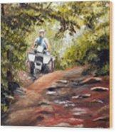 Bear Wallow Rider Wood Print
