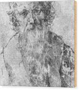 Bearded Man Wood Print