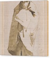 Bearded Oriental In Turban And Cloak Wood Print