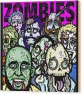 Bearded Zombies Group Photo Wood Print