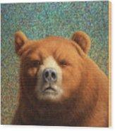 Bearish Wood Print by James W Johnson