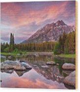 Bearpaw Lake  Wood Print