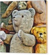 Bears For Sale Wood Print