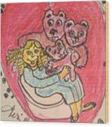 Bear's Love's Hugs Wood Print