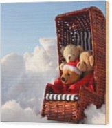 Bears Winter Holidays Wood Print