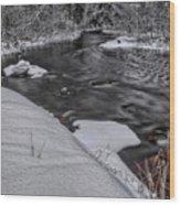 Bearskin Creek Riffles Wood Print