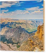 Beartooth Highway Scenic View Wood Print