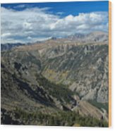 Beartooth Mountain Vista Wood Print
