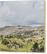 Beartooth Mountains Panorama Wood Print