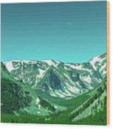 Beartooth Mountains Wood Print
