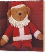 Beary Merry Christmas  Wood Print