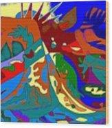 Beast In Colorful Coat Wood Print