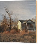 Beat Up Old House Wood Print