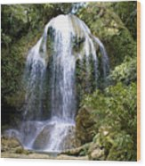 Beatifull Cuban Waterfall Wood Print