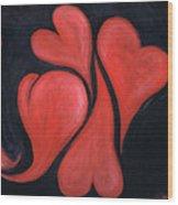 Beating Hearts  Wood Print