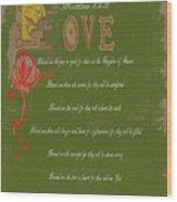 Beatitudes Wood Print