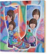 Beatle Boots Wood Print