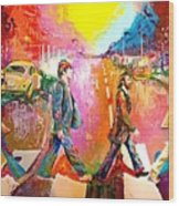 Beatles Abbey Road  Wood Print